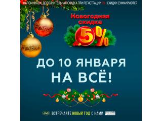 Новогодняя скидка 5% !