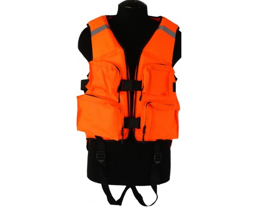 Жилет охотника спасательный № 2 (оранжевый)