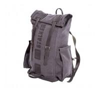 Рюкзак STALKER 20 брезентовый черный (20 литров)