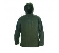 Куртка с капюшоном флис (хаки)