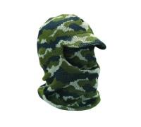 Лыжная шлем-маска с козырьком (камуфлированная)
