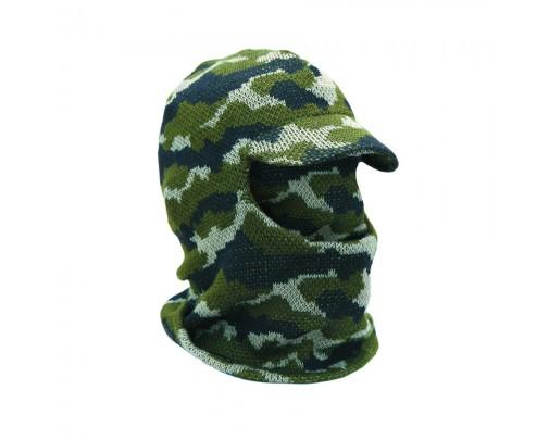 ХСН - Лыжная шлем-маска с козырьком (камуфлированная) - 714-7 - Stalker PRO