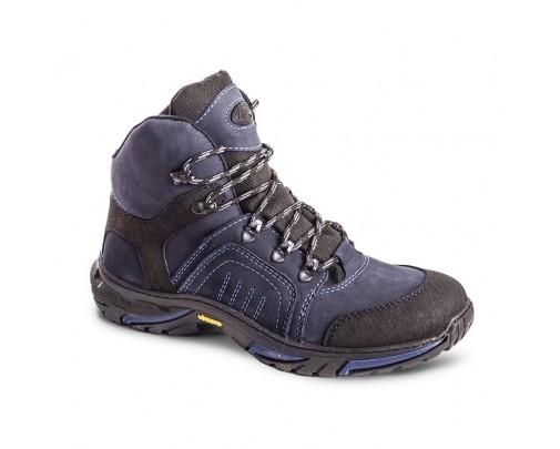 Ботинки «Страйкер» зима (натуральный мех) Синий 584-7 ХСН