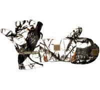 Варежки-перчатки windblok (белый лес)