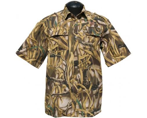 """ХСН - Рубашка с коротким рукавом """"Фазан"""" (камыш) - 9456-3 - Stalker PRO"""
