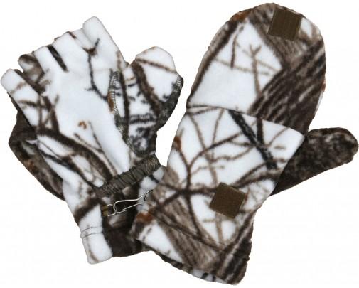 - Варежки-перчатки (белый лес) - 732-4 - Stalker PRO
