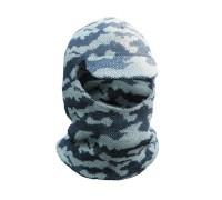 Лыжная шлем-маска с козырьком (белая)