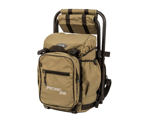 "- Рюкзак со стулом ""Picnic"" (20 литров - хаки) - 9766 - Stalker PRO"